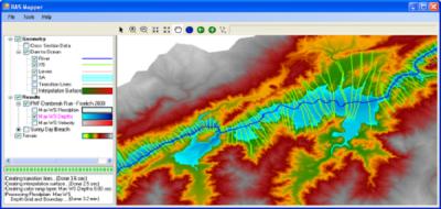 Modelado de avenida de inundación con HEC RAS / Mapper